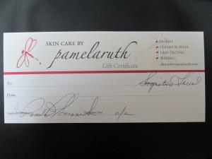 Item # Gift Certificate Value: $85.00